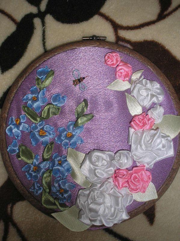 плетение атласными лентами - Цветы.