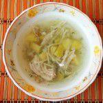 Суп вермишелевый на курином бульоне
