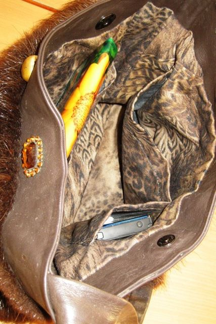 Внутренняя отделка сумки