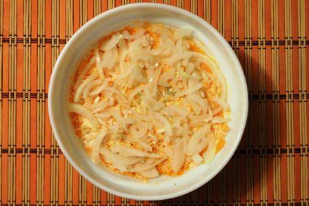 Рецепт салата Мимоза с сыром