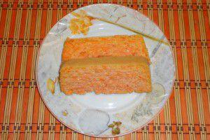 Морковно-творожная запеканка