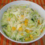 Салат с капустой и с кукурузой