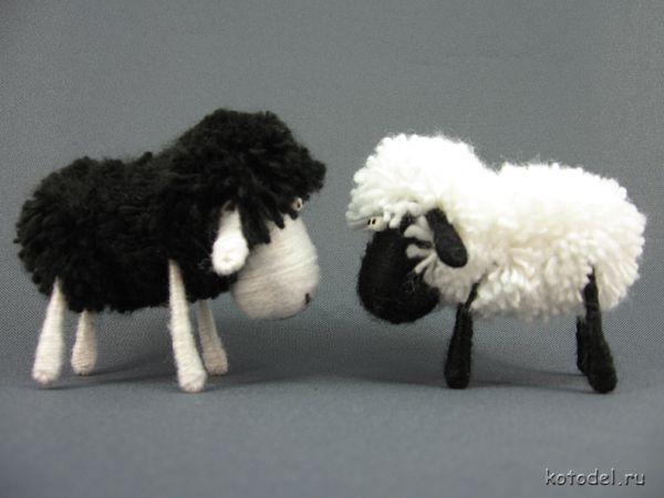 Овца своими руками поделка