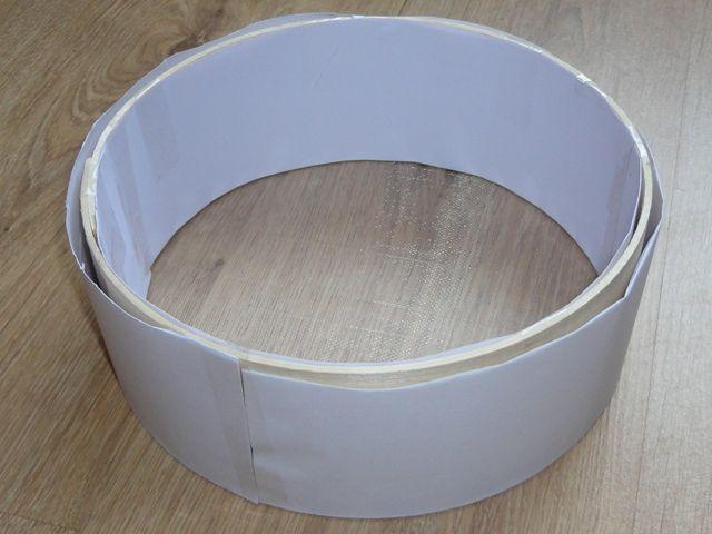 Оборачиваем свадебное сито бумагой