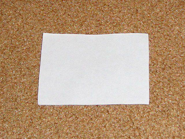 За основу берем прямоугольник бумаги
