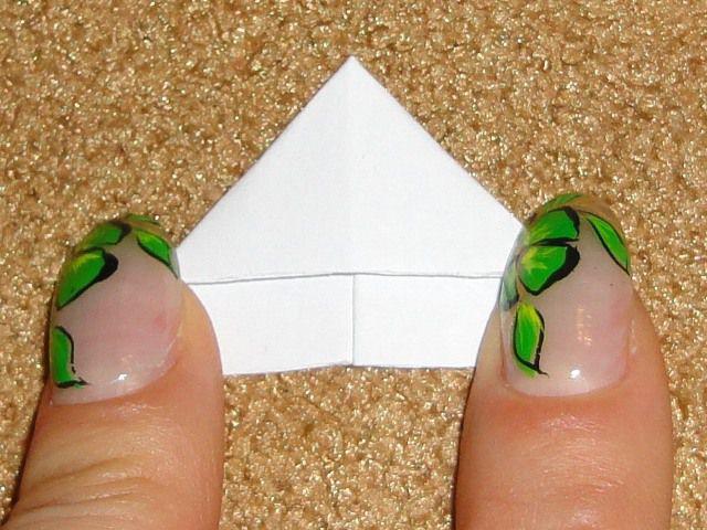 Другая сторона заготовки модуля для оригами