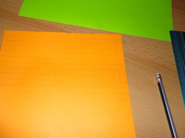 Расчертить полоски на бумаге и вырезать