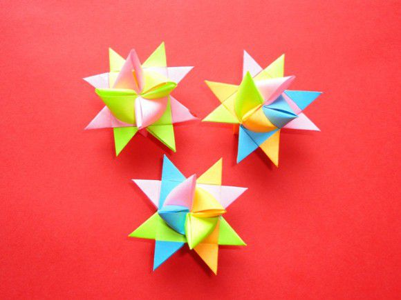 Рождественские звезды из бумаги своими руками