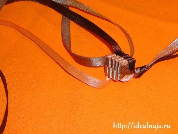и связываем ленты в узел