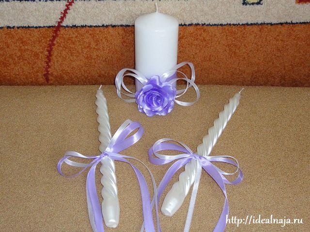 Украсить свечи на свадьбу своими руками мастер