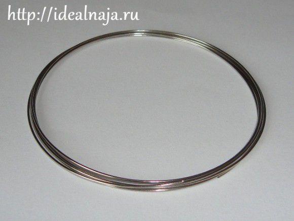 Жесткая спиральная основа для браслетов из стальной проволоки