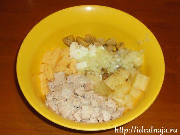 Ингредиенты для салата Белый