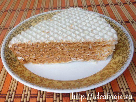 торт из готовых вафельных коржей со сгущенкой рецепт с фото пошагово