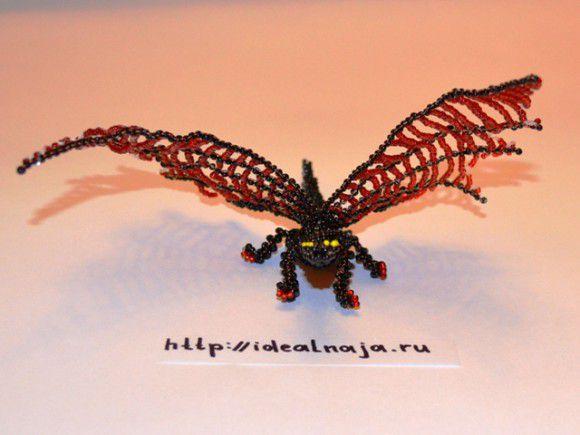 Дракон из бисера