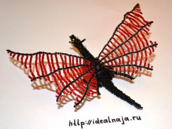 Прикрепляем крылья к телу дракона