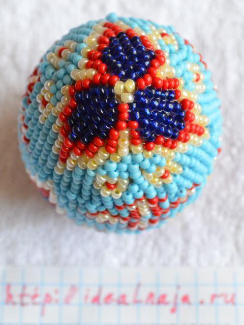 Пасхальное яйцо из бисера - острый кончик