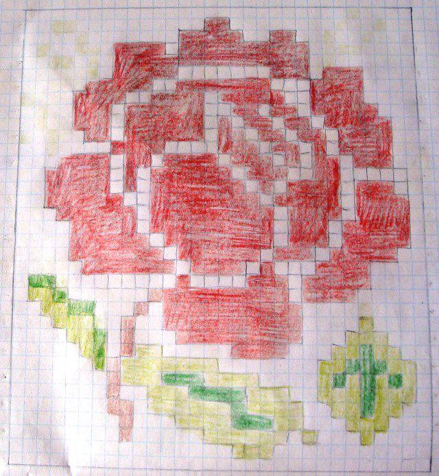 Схема розы для гердана