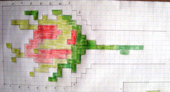 Бутон розы схема