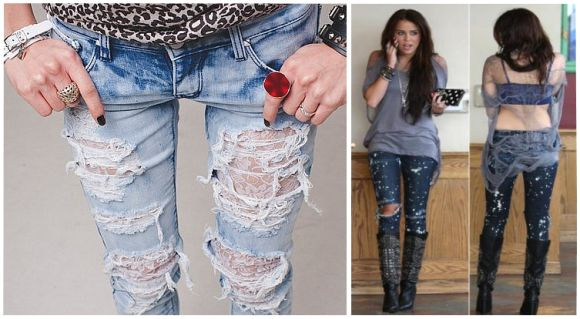 мк коврик из джинсов