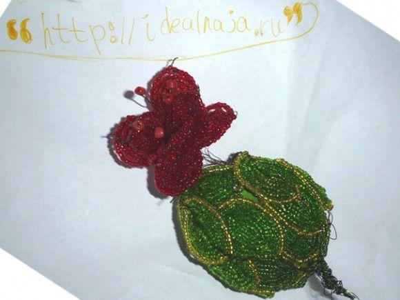 цветок из бисера схема. роза из бисера мастер класс. зелено красная орхидея из бисера... схемы цветов из бисера...