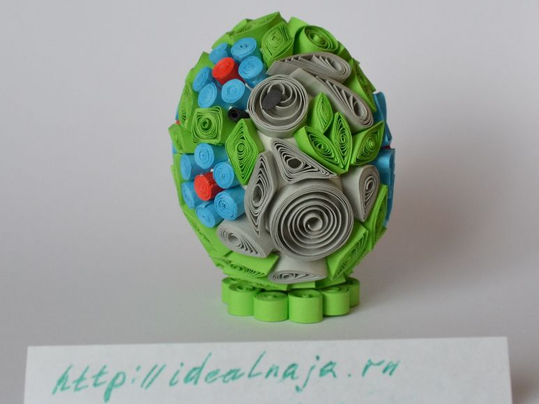 Пасхальное яйцо квиллинг