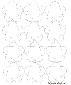 Шаблон цветка из 5 лепестков