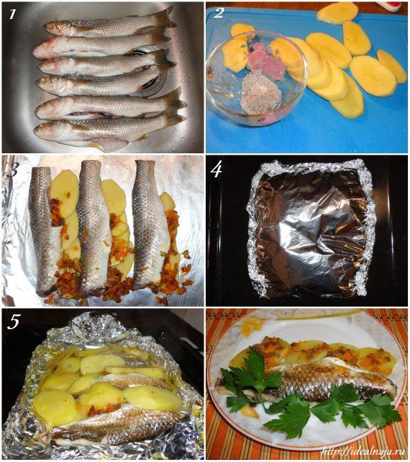 Пеленгас запеченный в духовке целиком рецепт в фольге