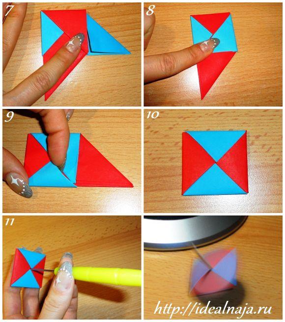 Волчок как сделать из бумаги