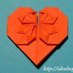 Оригами из бумаги сердечко
