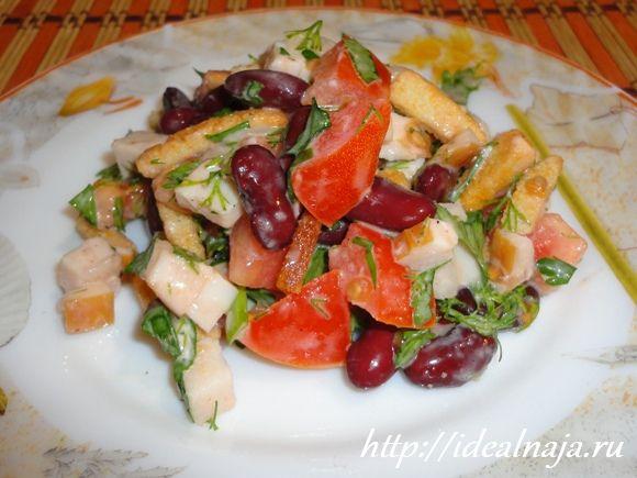 Рецепт салатов из красной фасоли с болгарским перцем