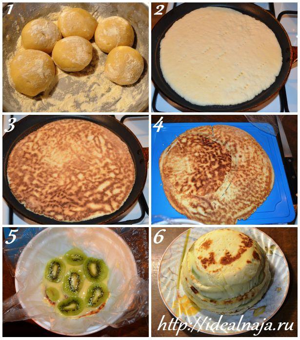 Как сделать торт на сковороде Изумрудная