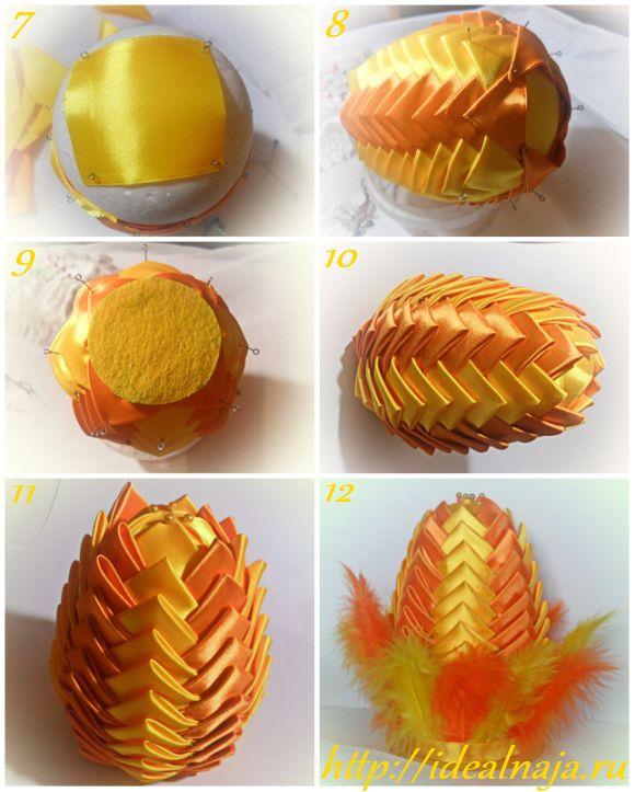 Как сделать пасхальное яйцо в технике артишок ч.2