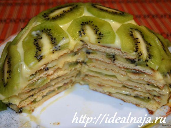 Торт Изумрудная черепаха в разрезе