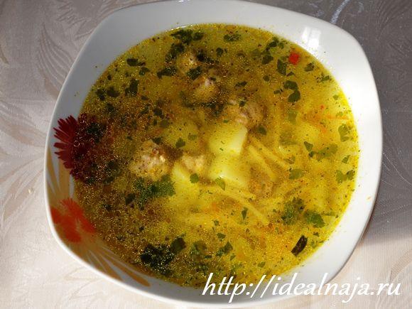 Суп с фрикадельками из мультиварки