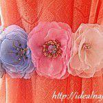 Цветок из искусственной ткани своими руками