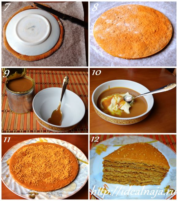Как приготовить торт Рыжик ч.2