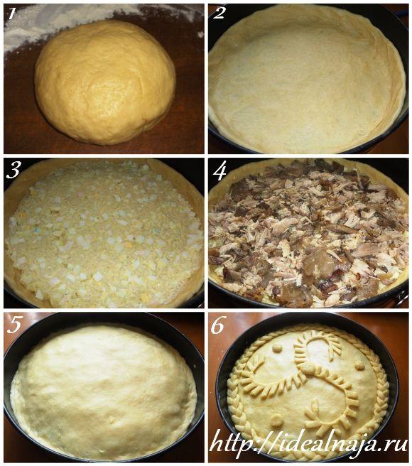 Как сделать тесто для курника