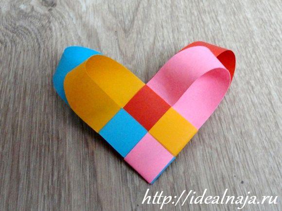 Сердце из бумажных полос