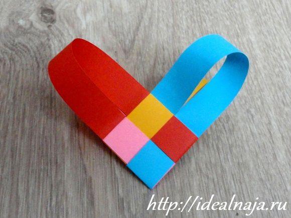 Сердечко из бумажных полос