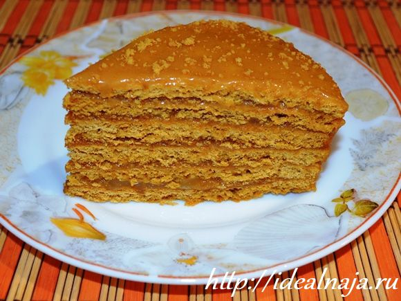 Торт Рыжик в разрезе