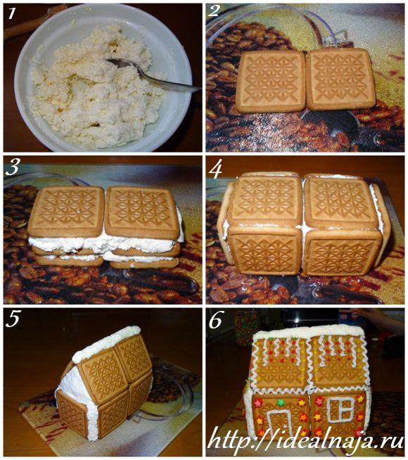 Как сделать торт из печенья и творога