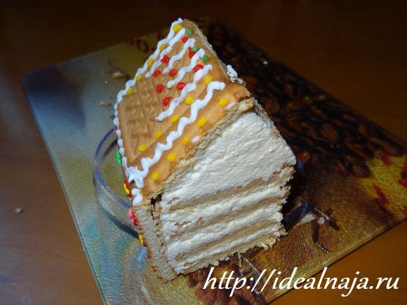 Торт Избушка в разрезе