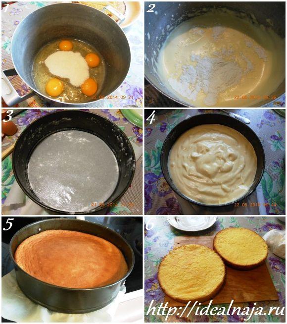 Сделать крем для бисквитного торта