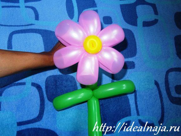 Цветок из шариков для моделирования
