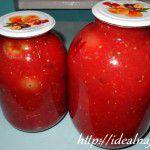 Помидоры в томатном соке на салициловой кислоте