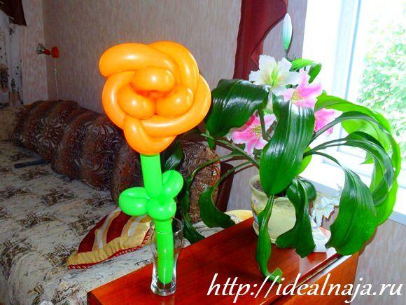Роза из шаров для моделирования