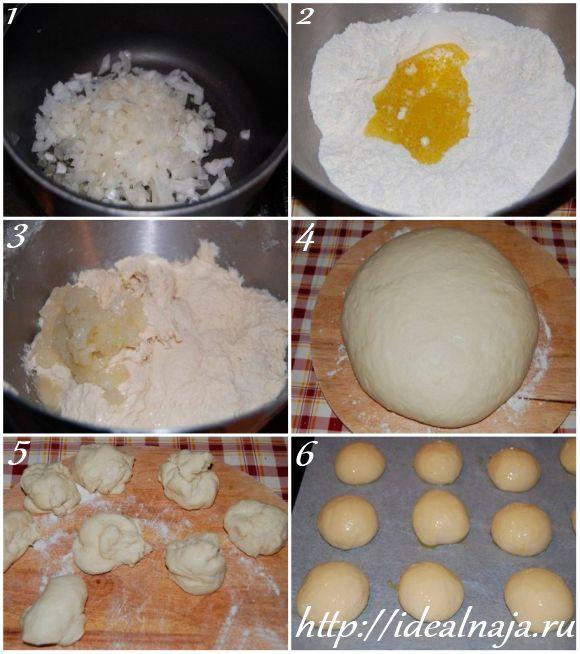 Как приготовить булочки с луком