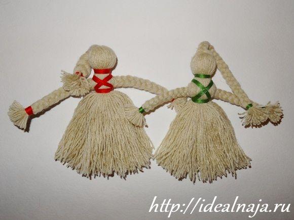 Сделать куклу из ниток своими руками