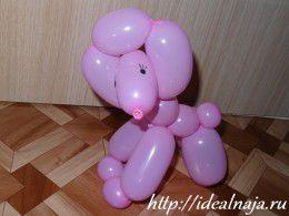 Пудель из шарика