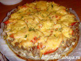 Пирог на картофельном тесте